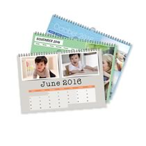 5 x A4 Landscape Personalised Calendar incl Delivery