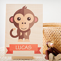 Stand Wood Print 15x21cm (4mm Plywood) incl Delivery