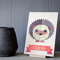 Stand Wood Print 10x15cm (4mm Plywood) incl Delivery