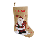 Modern Santa Christmas Stocking